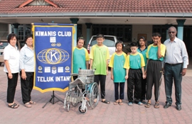 Kiwanis club donating wheelchair