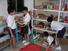 Children using toy library